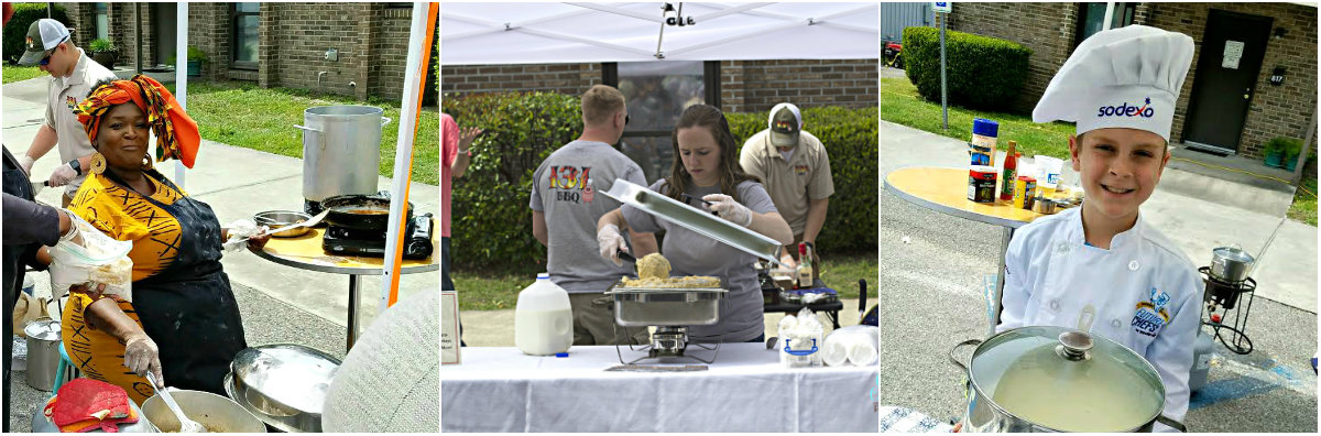 The ssecond place winner was Anita Singleton Prather of Aunt Pearlie Sue Singletons Gullah Gal Cake Catering. Third place brought a tie between Jordan Madding of 131 BBQ and student Henry Lovett,  ESPB photos