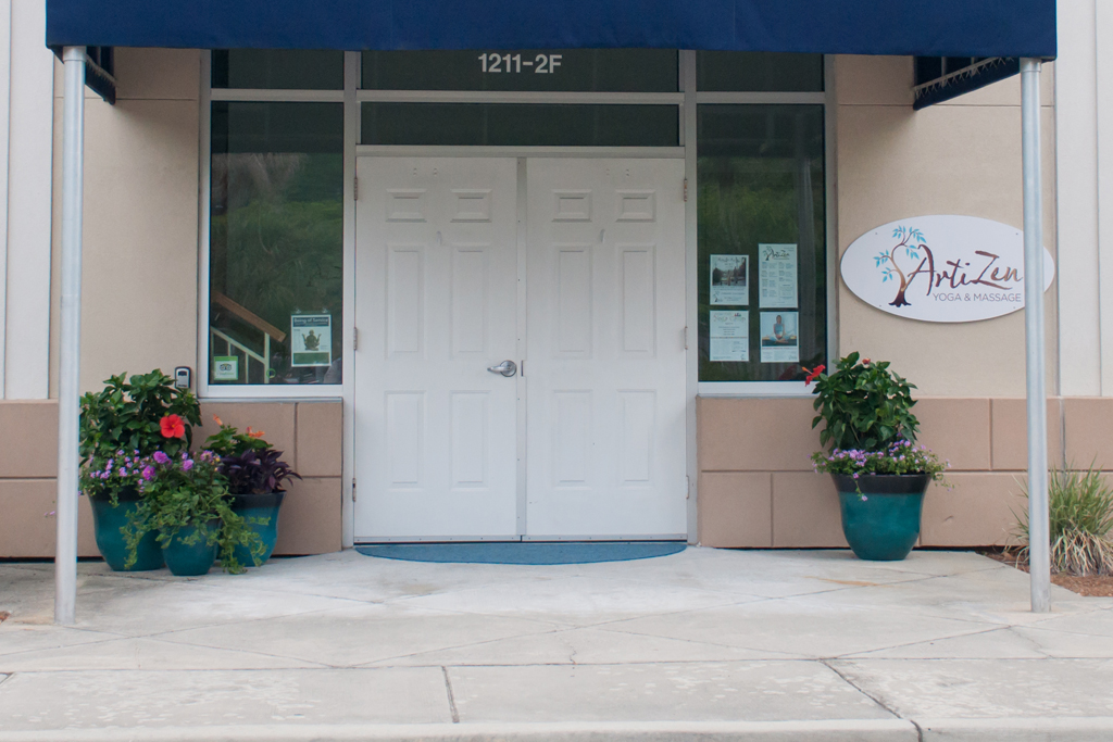 ArtiZen Yoga is located at newcastle Square in Beaufort's Uptown neighborhood. Photo courtesy ArtiZen Yoga