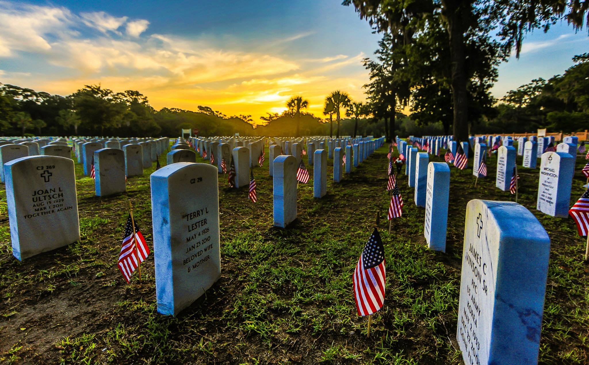 The Beaufort National Cemetery has interments from every major U.S. conflict in history.