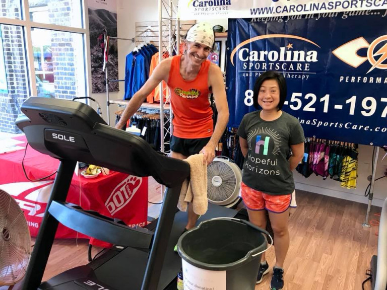 Beaufort store owner runs 65 miles in 12 hours for charity on Saturday