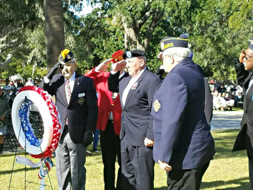 Beaufort honors its Veterans in parade & ceremony