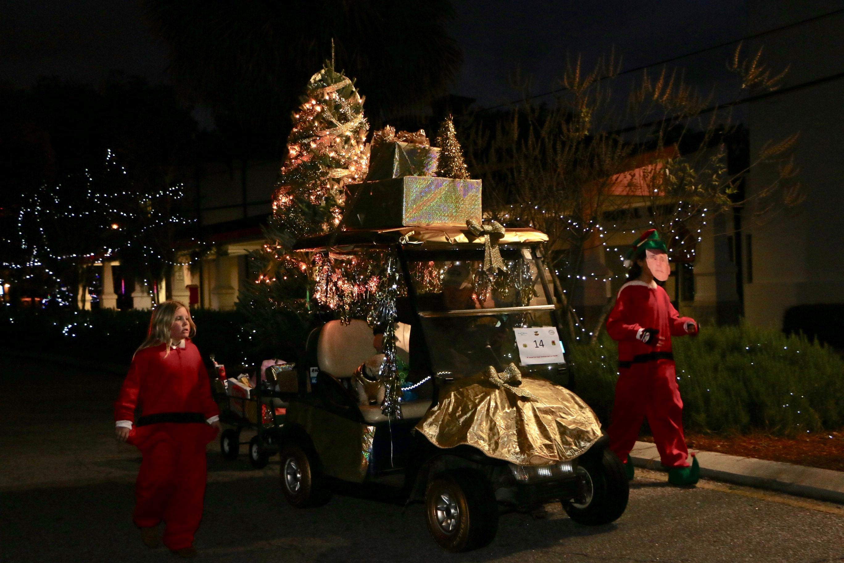 Christmas Golf Cart Parade Lights Up Port Royal