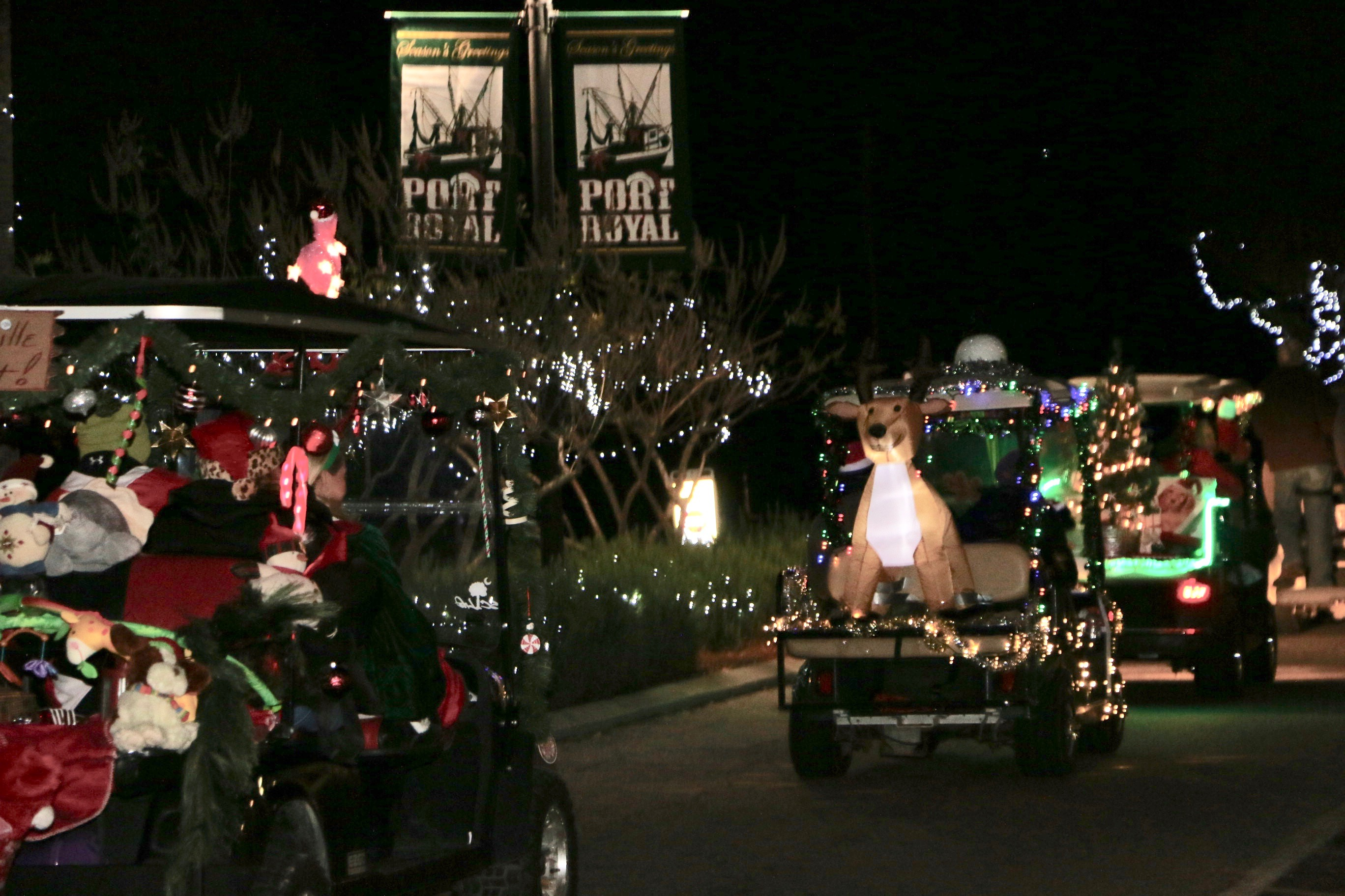 port royal christmas golf cart parade