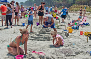 hunting island sand sculpting