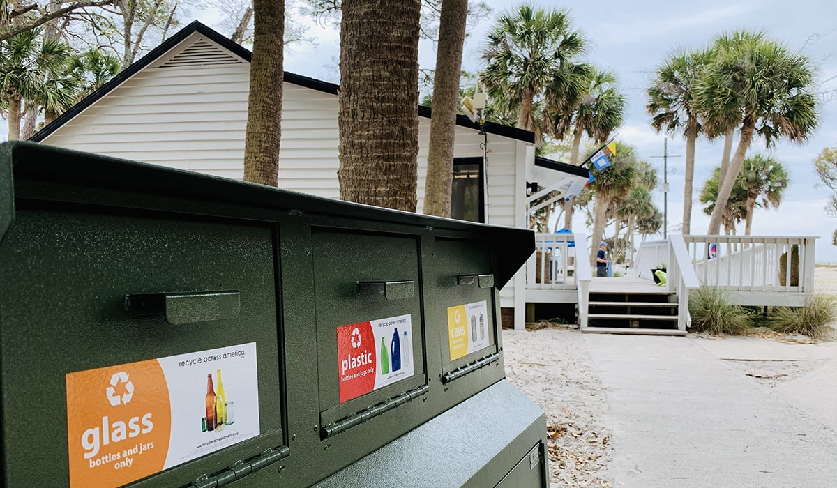 Recycle at Hunting Island State Park