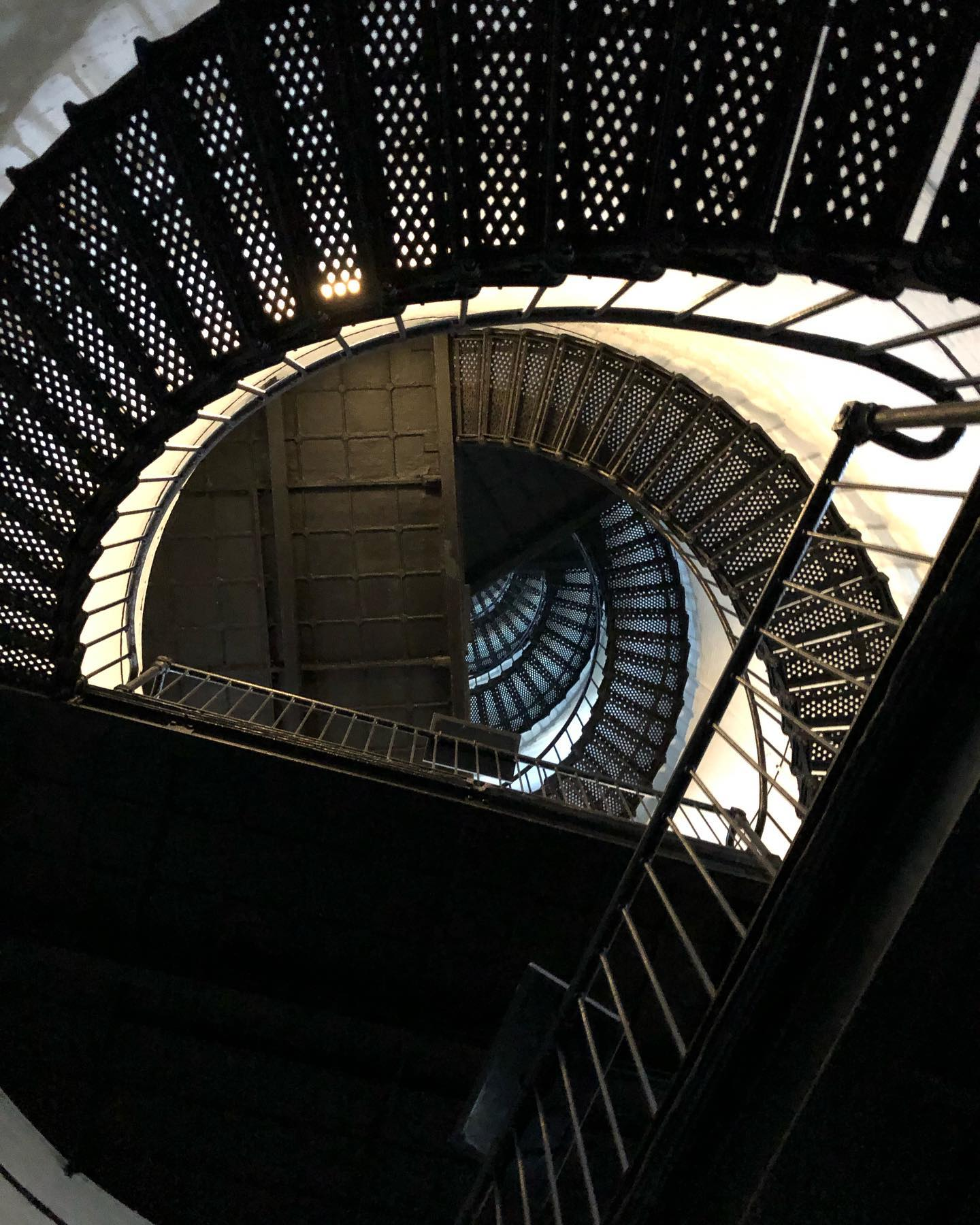 Hunting Island's Lighthouse: Up you go, step by step
