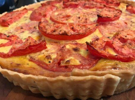 Vidalia Onion & Beefsteak Tomato Tart