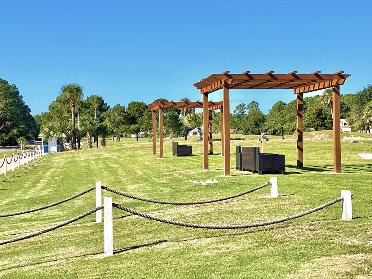 Take a swing at the new golf driving range on Cat Island, SC