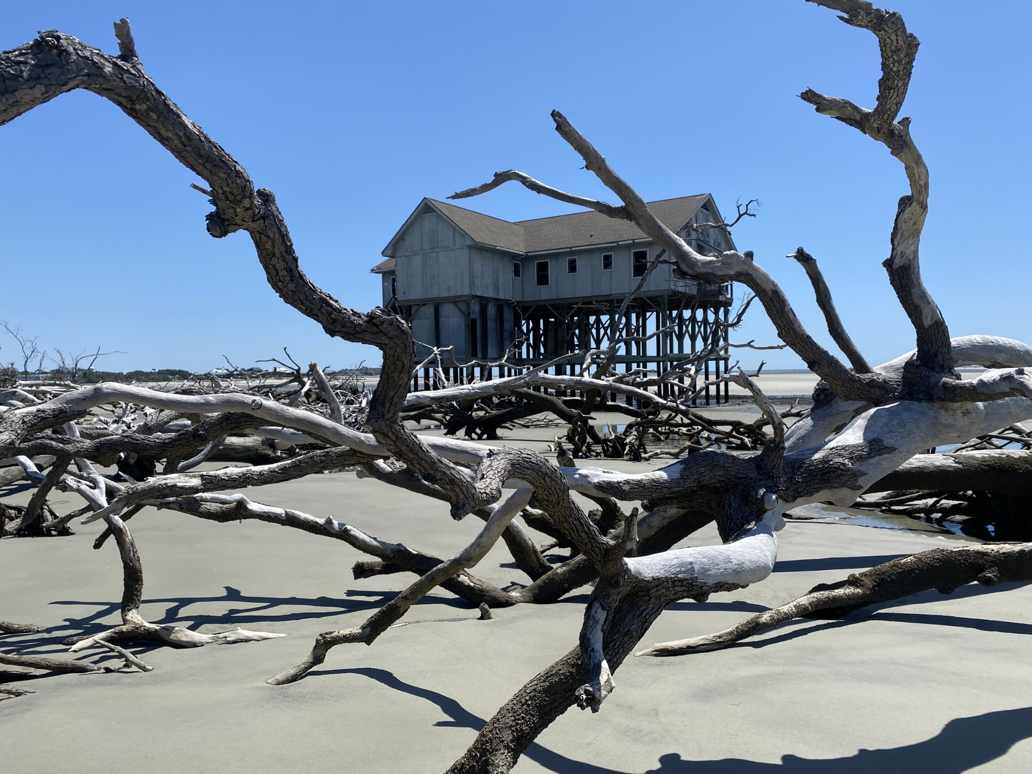 Remnants of USC Beaufort's research center on Pritchard's Island